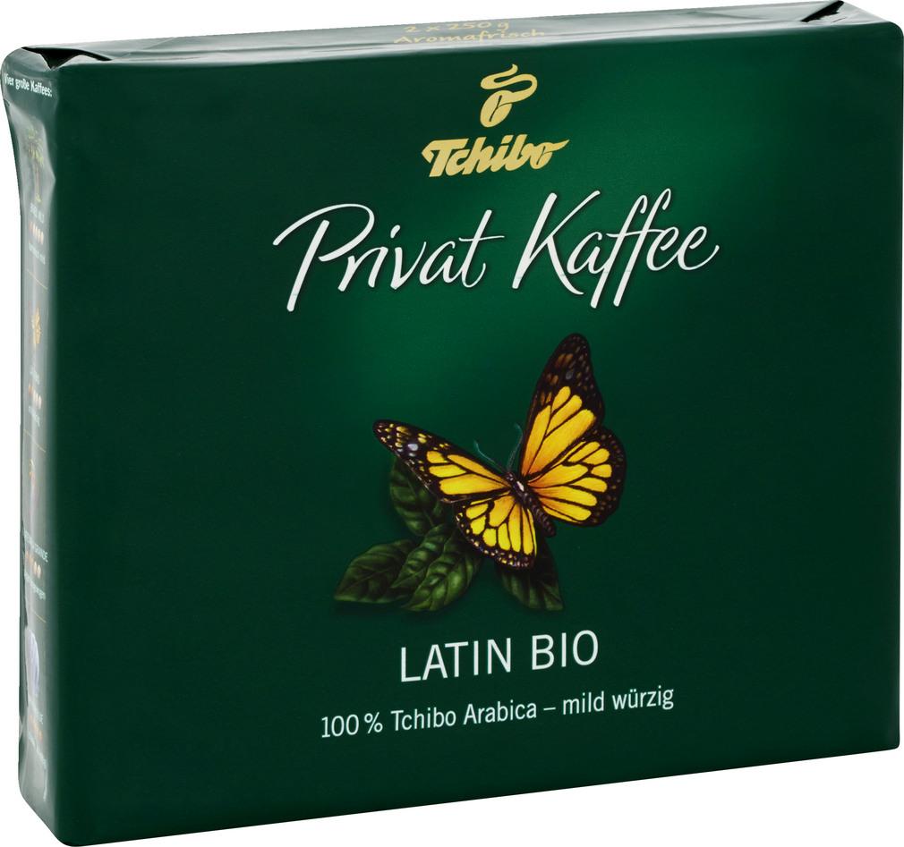 Abbildung des Sortimentsartikels Tchibo Privat Kaffee Latin Bio 2x250g