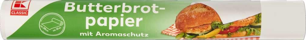Abbildung des Sortimentsartikels K-Classic Butterbrotpapier Rolle 16m