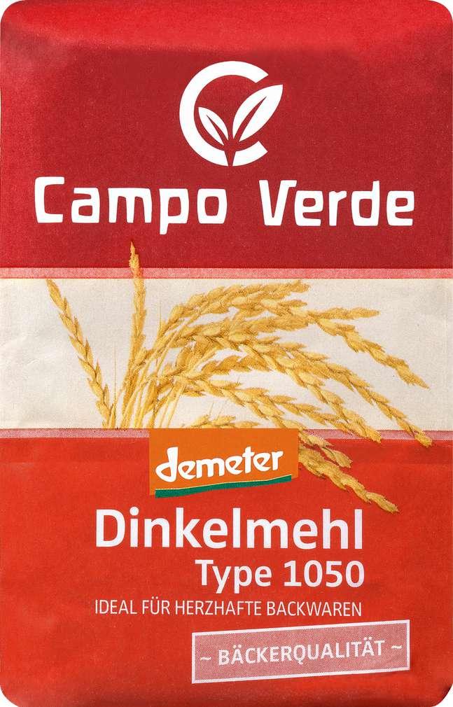 Abbildung des Sortimentsartikels Campo Verde Demeter Dinkelmehl Type 1050 1000g