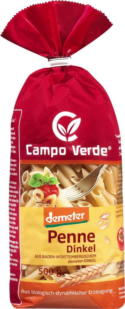 Abbildung des Sortimentsartikels Campo Verde Demeter Dinkel Penne 500g