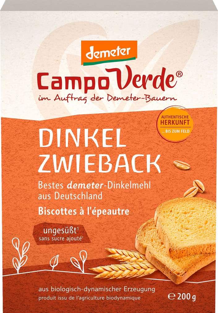 Abbildung des Sortimentsartikels Campo Verde Demeter Dinkelzwieback 360g