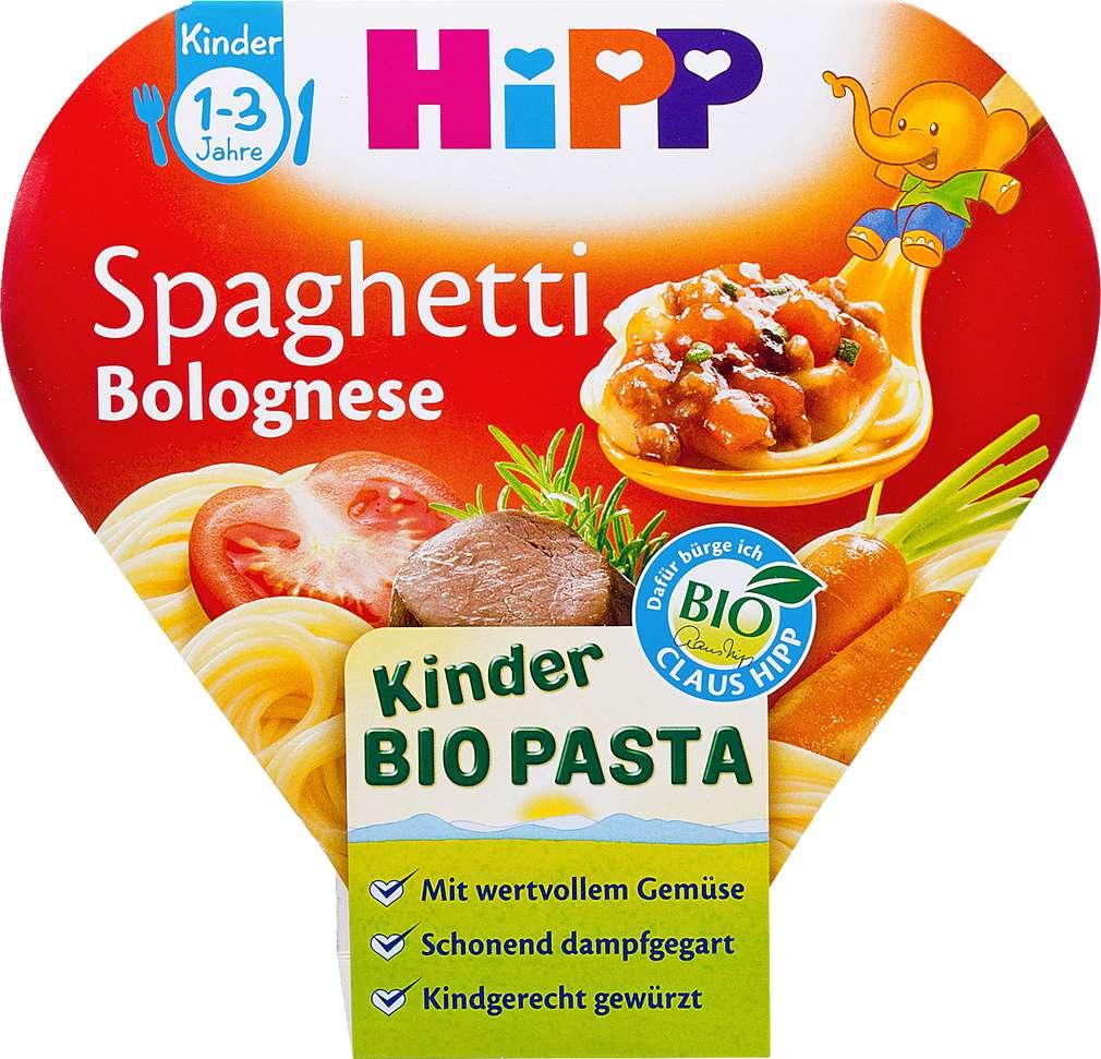 Abbildung des Sortimentsartikels Hipp Kinder Bio Pasta Spaghetti Bolognese 250g