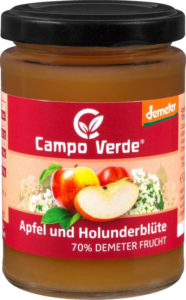 Abbildung des Sortimentsartikels Campo Verde Demeter Fruchtaufstrich Apfel-Holunderblüte 200g