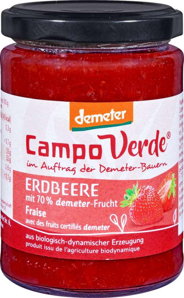 Abbildung des Sortimentsartikels Campo Verde Demeter Fruchtaufstrich Erdbeere 200g