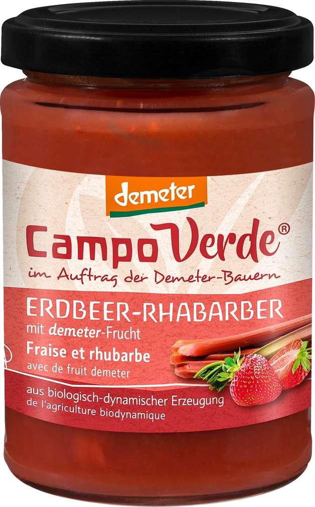 Abbildung des Sortimentsartikels Campo Verde Demeter Fruchtaufstrich Erdbeere-Rhabarber 200g