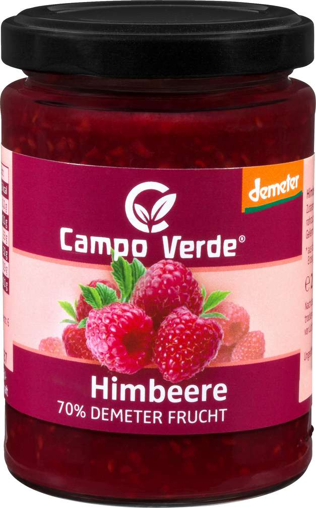 Abbildung des Sortimentsartikels Campo Verde Demeter Fruchtaufstrich Himbeere 200g