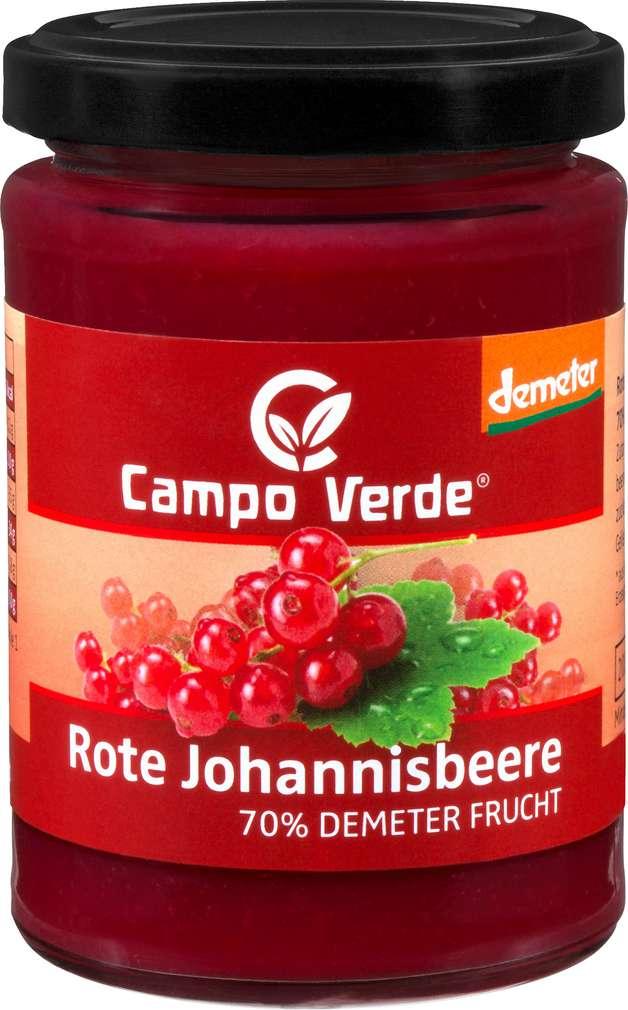 Abbildung des Sortimentsartikels Campo Verde Demeter Fruchtaufstrich Johannisbeere 200g