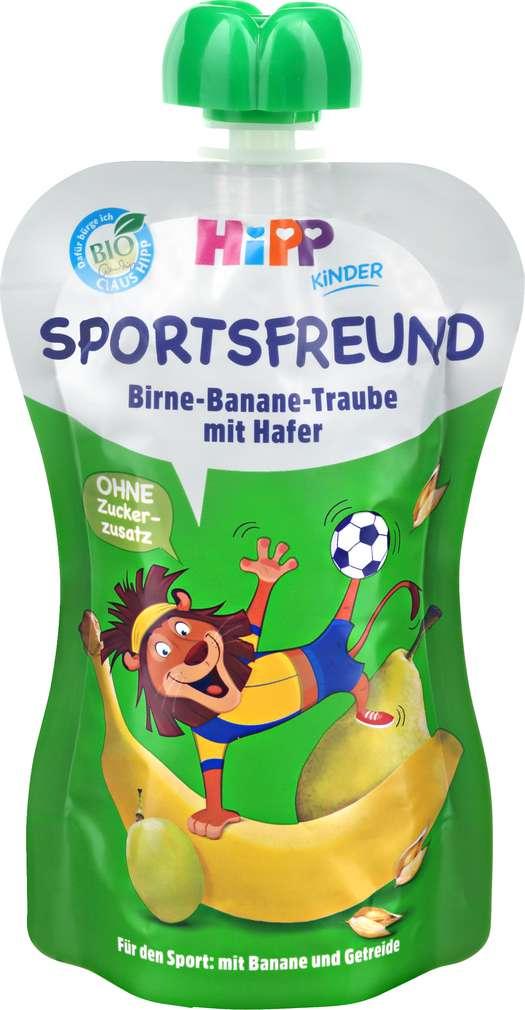 Abbildung des Sortimentsartikels Hipp Sportsfreund Birne Ban.Traube-Hafer Leo Löwe ab 1J 120g