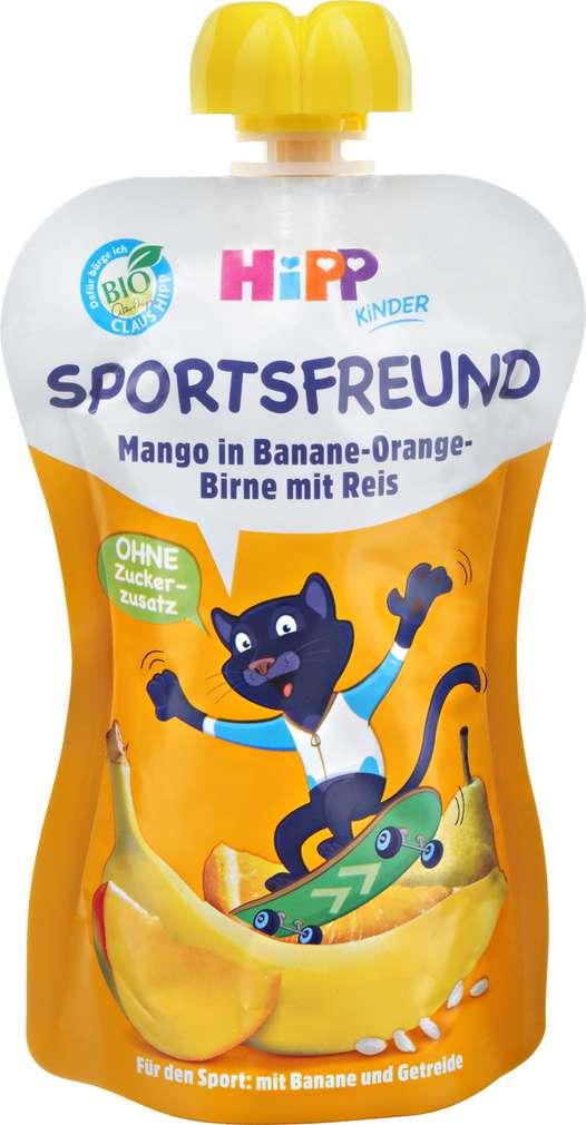 Abbildung des Sortimentsartikels Hipp Sportsfreund Mango Ban.Orange Bi. Reis Pit Puma ab 1J 120g