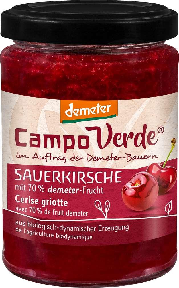 Abbildung des Sortimentsartikels Campo Verde Demeter Fruchtaufstrich Sauerkirsche 200g