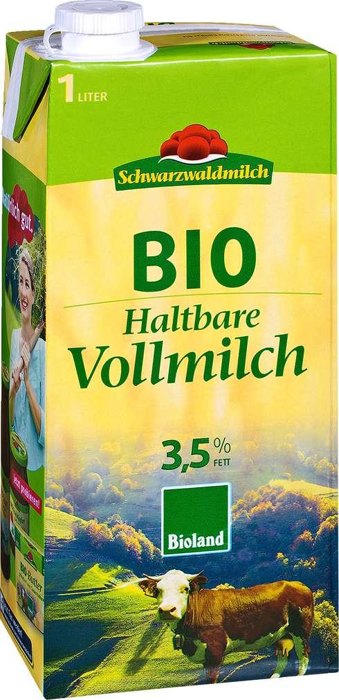 Abbildung des Sortimentsartikels Schwarzwaldmilch Haltbare Bio Vollmilch 3,5% 1l