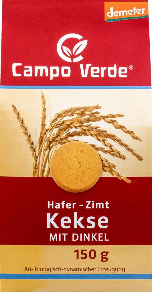 Abbildung des Sortimentsartikels Campo Verde Demeter Hafer-Zimt Kekse mit Dinkel 150g