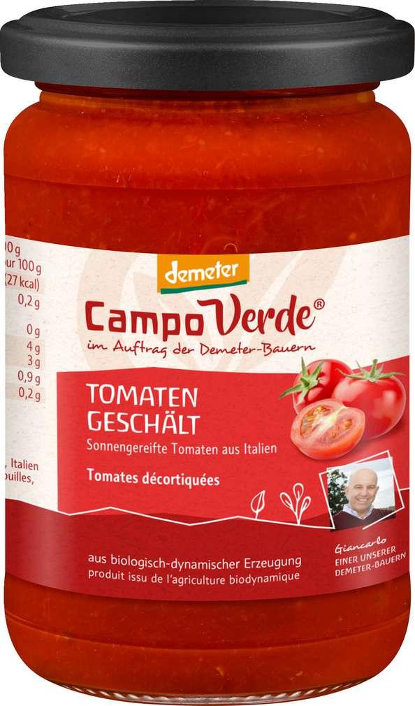 Abbildung des Sortimentsartikels Campo Verde Demeter Handgeschälte Tomaten 530