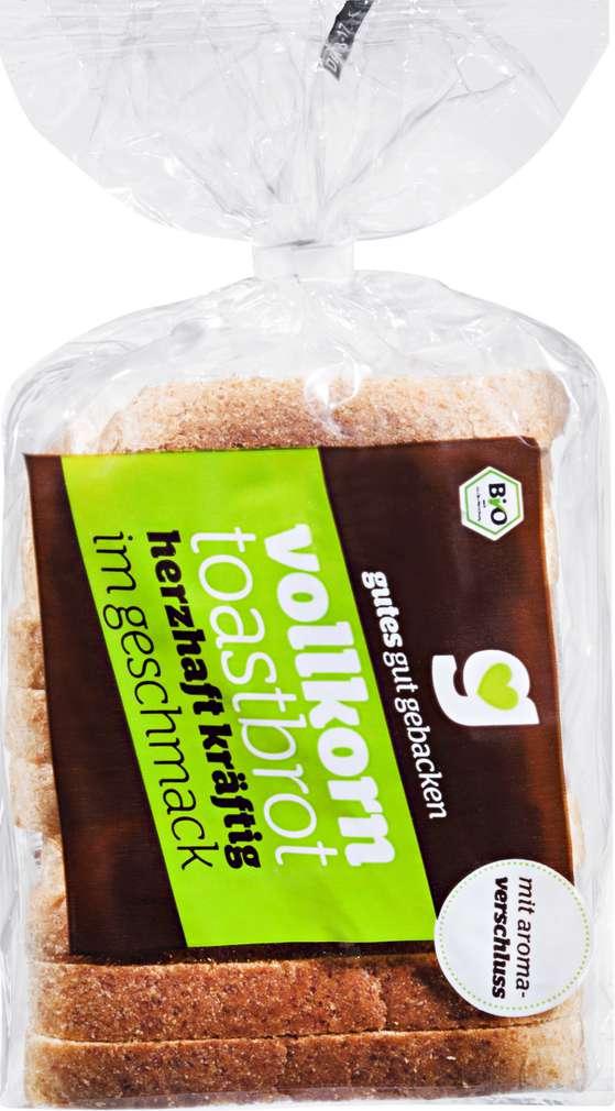 Abbildung des Sortimentsartikels gutes gut gebacken BB Bio-Vollkorn-Toast Weizen 250g
