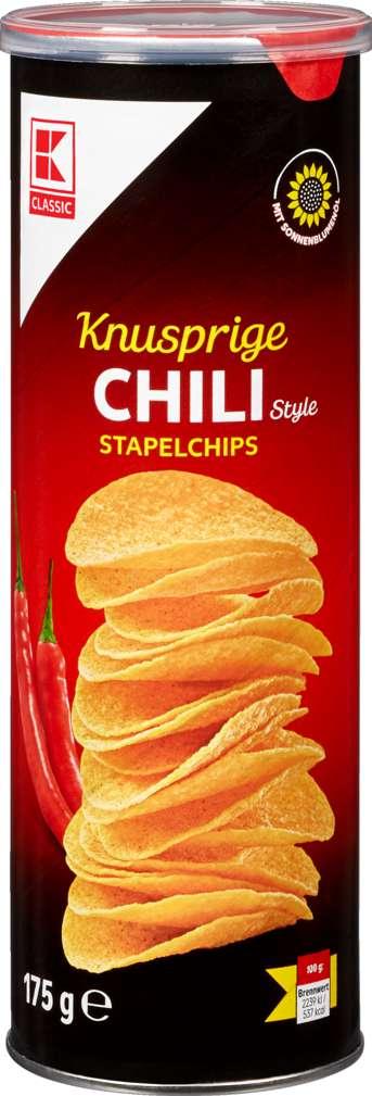 Abbildung des Sortimentsartikels K-Classic Stapelchips Chili 175g