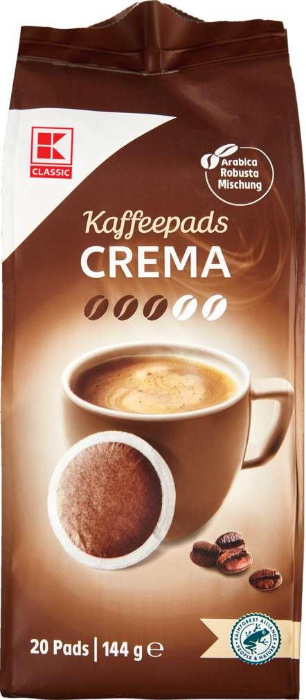 Abbildung des Sortimentsartikels K-Classic Kaffeepads Crema 144g