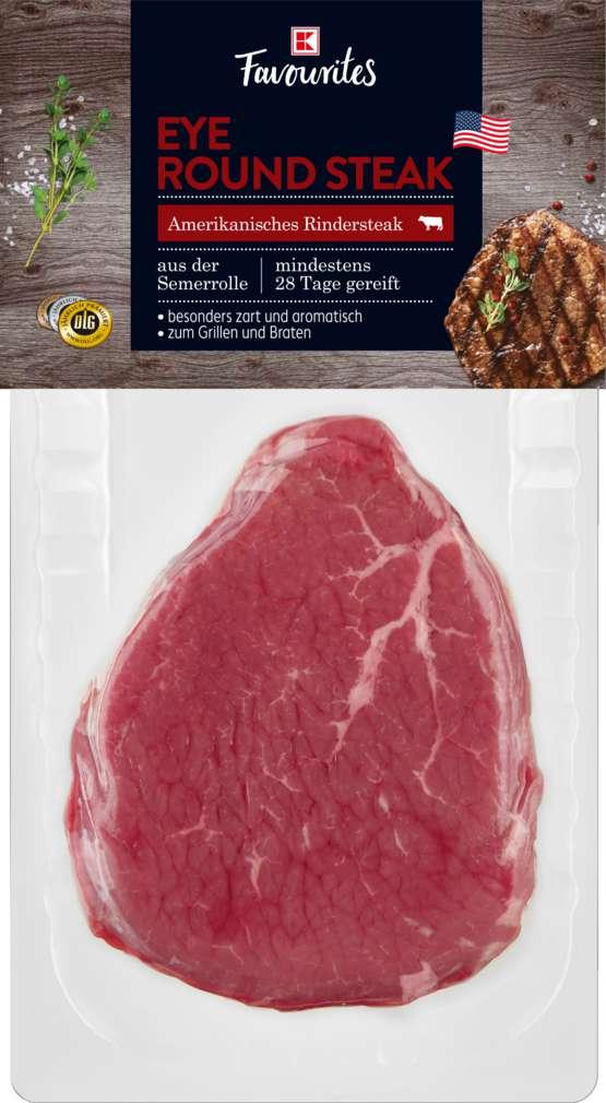 Abbildung des Sortimentsartikels K-Favourites US Eye Round Steak