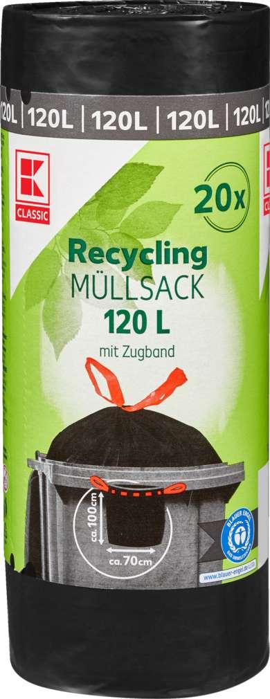 Abbildung des Sortimentsartikels K-Classic Recycling Müllsack 120l mit Zugband 20 Stück