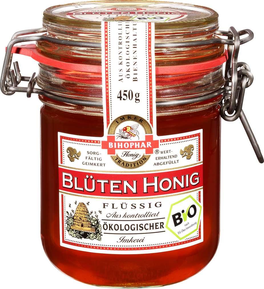 Abbildung des Sortimentsartikels Bihophar Blüten Honig Flüssig 450g