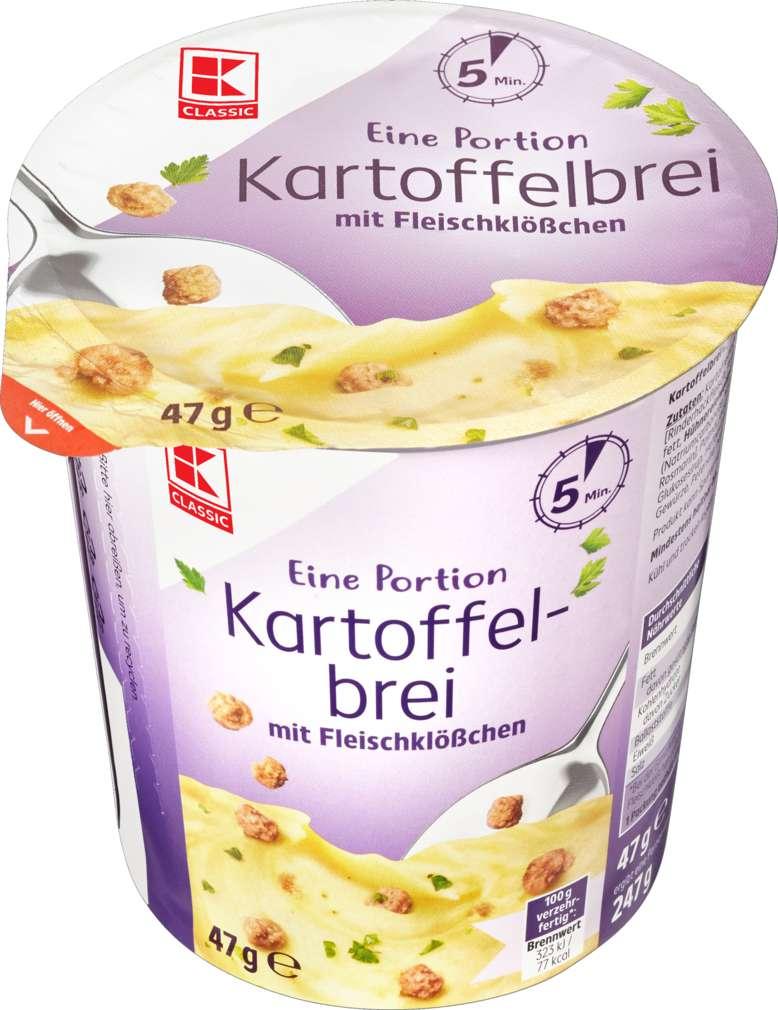 Abbildung des Sortimentsartikels K-Classic Kartoffelbrei mit Fleischklößchen 47g