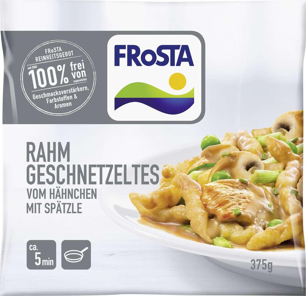 Abbildung des Sortimentsartikels Frosta Rahm Geschnetzeltes vom Hähnchen mit Spätzle 375g