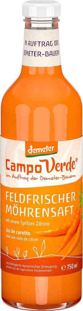 Abbildung des Sortimentsartikels Campo Verde Demeter Möhrensaft Feldfrüchte 750ml