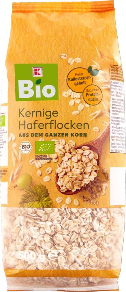 Abbildung des Sortimentsartikels K-Bio Vollkorn-Haferflocken Großblatt 500g