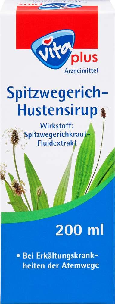 Abbildung des Sortimentsartikels Vita plus Hustensirup Spitzwegerich 200ml