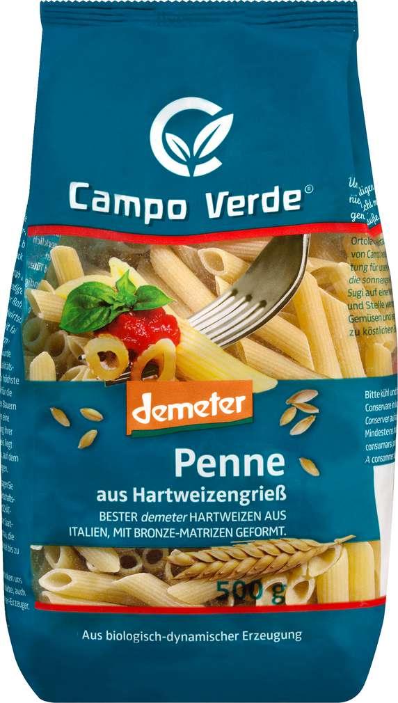 Abbildung des Sortimentsartikels Campo Verde Demeter Penne aus Hartweizengrieß 500g