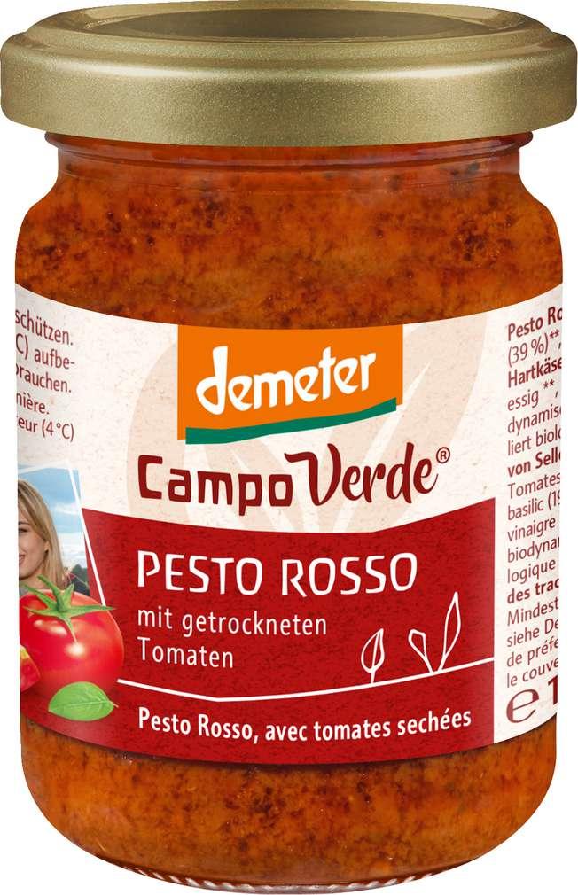 Abbildung des Sortimentsartikels Campo Verde Demeter Pesto Rosso 156ml