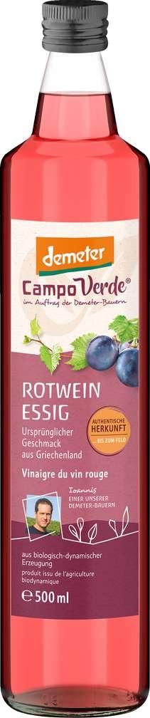 Abbildung des Sortimentsartikels Campo Verde Demeter Rotweinessig 500ml