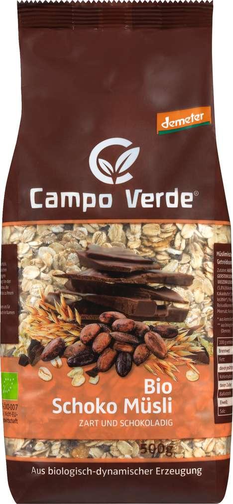 Abbildung des Sortimentsartikels Campo Verde Demeter Schokomüsli 500g