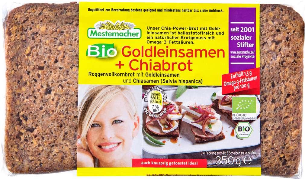 Abbildung des Sortimentsartikels Mestemacher Bio-Goldleinsamen-Ciabrot 350g