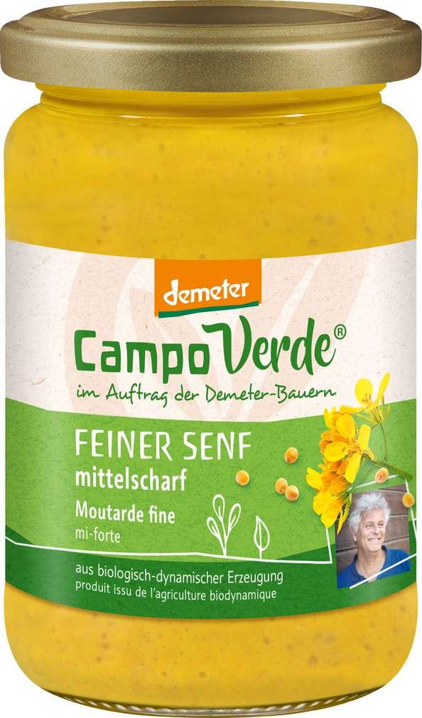 Abbildung des Sortimentsartikels Campo Verde Demeter Senf fein 210ml