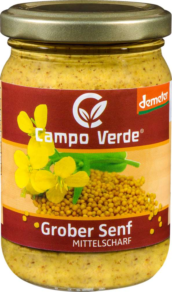 Abbildung des Sortimentsartikels Campo Verde Demeter Senf grob 210ml