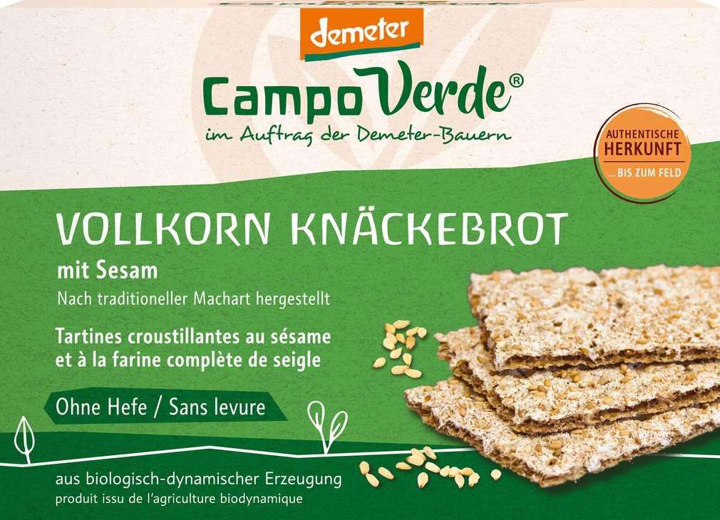 Abbildung des Sortimentsartikels Campo Verde Demeter Sesam Knäckebrot 250g