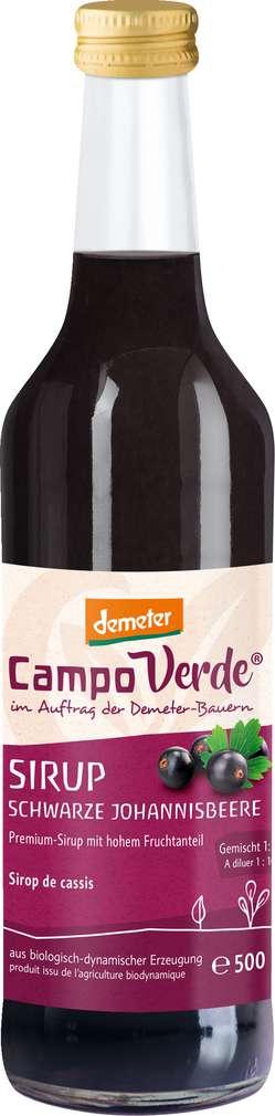 Abbildung des Sortimentsartikels Campo Verde Demeter Schwarze Johannisbeere Sirup 500ml