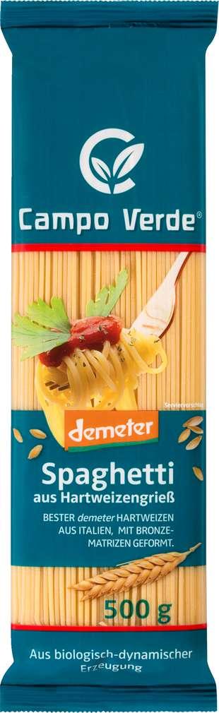 Abbildung des Sortimentsartikels Campo Verde Demeter Spaghetti aus Hartweizengrieß 500g