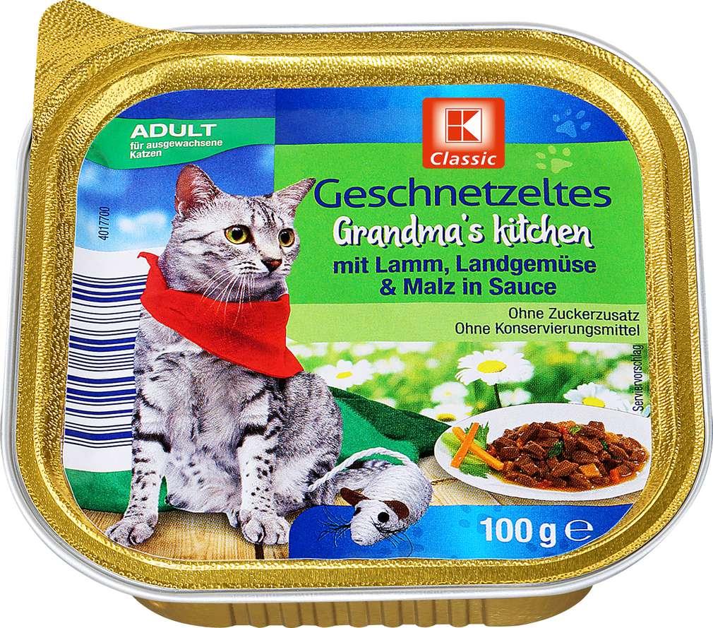 Abbildung des Sortimentsartikels K-Classic Katzennahrung Lamm+Gemüse+Malz 100g