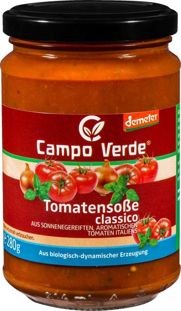 Abbildung des Sortimentsartikels Campo Verde Demeter Tomatensoße Classico 314ml