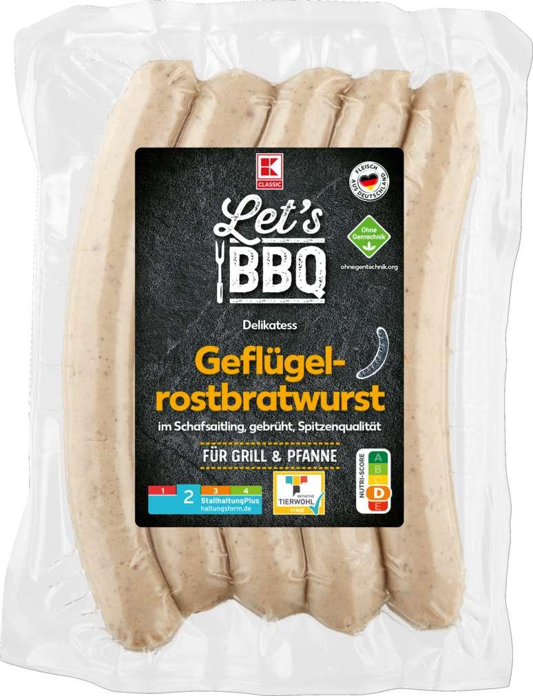 Abbildung des Sortimentsartikels K-Classic Let's BBQ Geflügelbratwurst gebrüht 350g