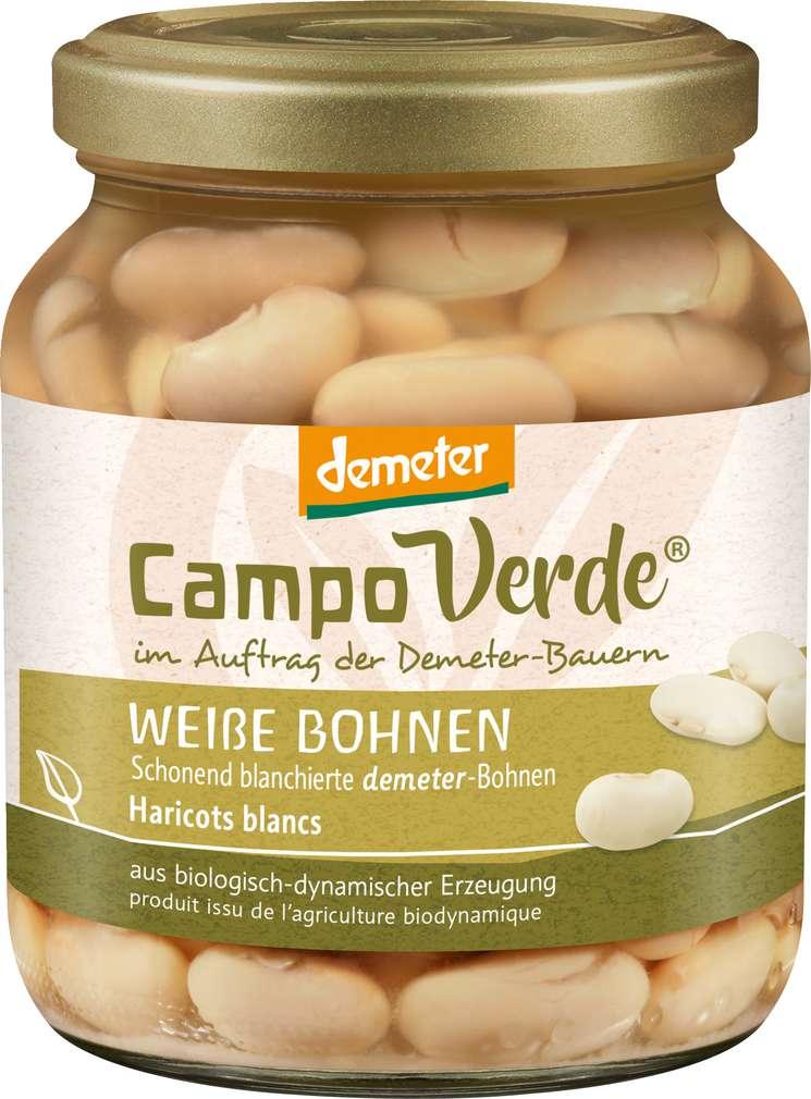 Abbildung des Sortimentsartikels Campo Verde Demeter Weiße Bohnen 350g