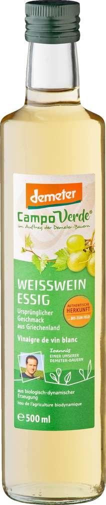 Abbildung des Sortimentsartikels Campo Verde Demeter Weißweinessig 500ml