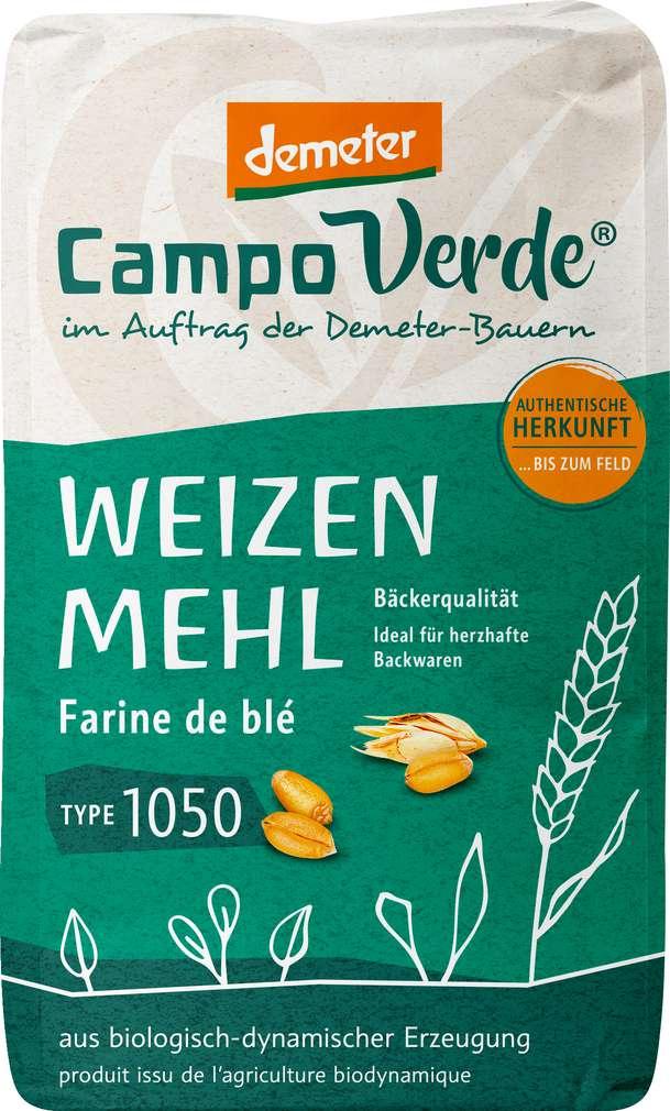 Abbildung des Sortimentsartikels Campo Verde Demeter Weizenmehl Type 1050 1000g