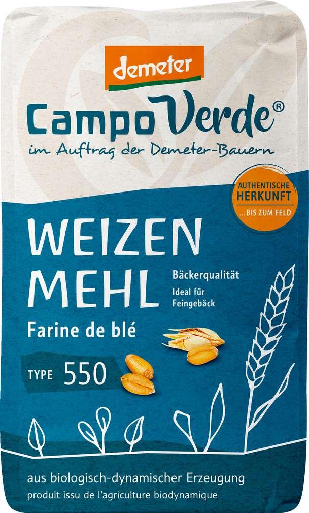 Abbildung des Sortimentsartikels Campo Verde Demeter Weizenmehl Type 550 1000g