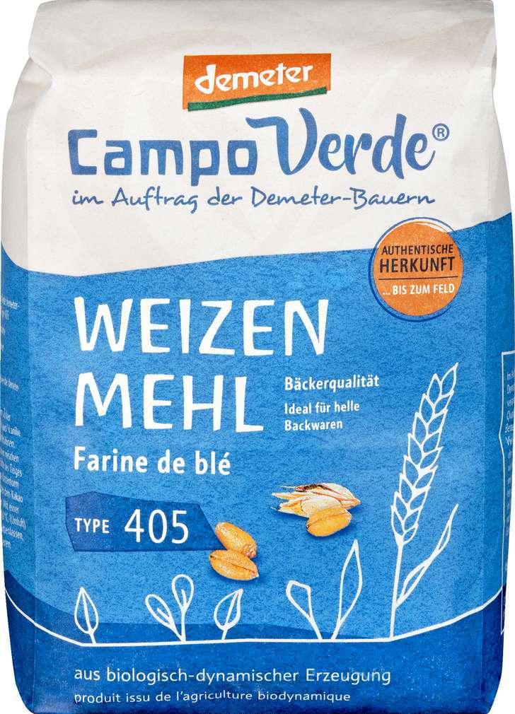 Abbildung des Sortimentsartikels Campo Verde Demeter Weizenmehl Type 405 1000g