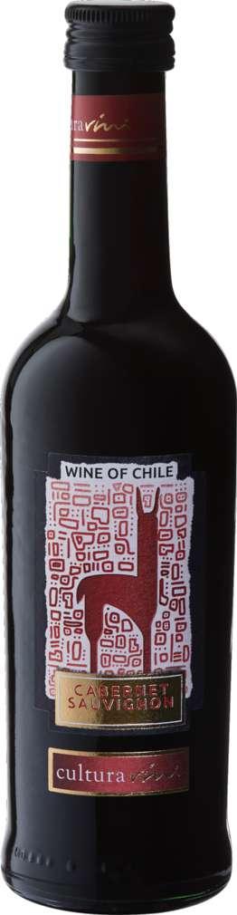 Abbildung des Sortimentsartikels Cultura Vini Cabernet Sauvignon Chile trocken 250ml Flasche