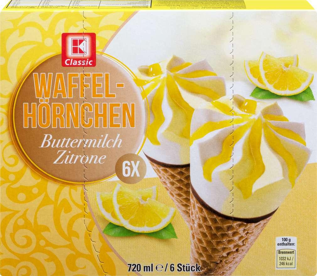 Abbildung des Sortimentsartikels K-Classic Waffelhörnchen Buttermilch Zitrone 720ml