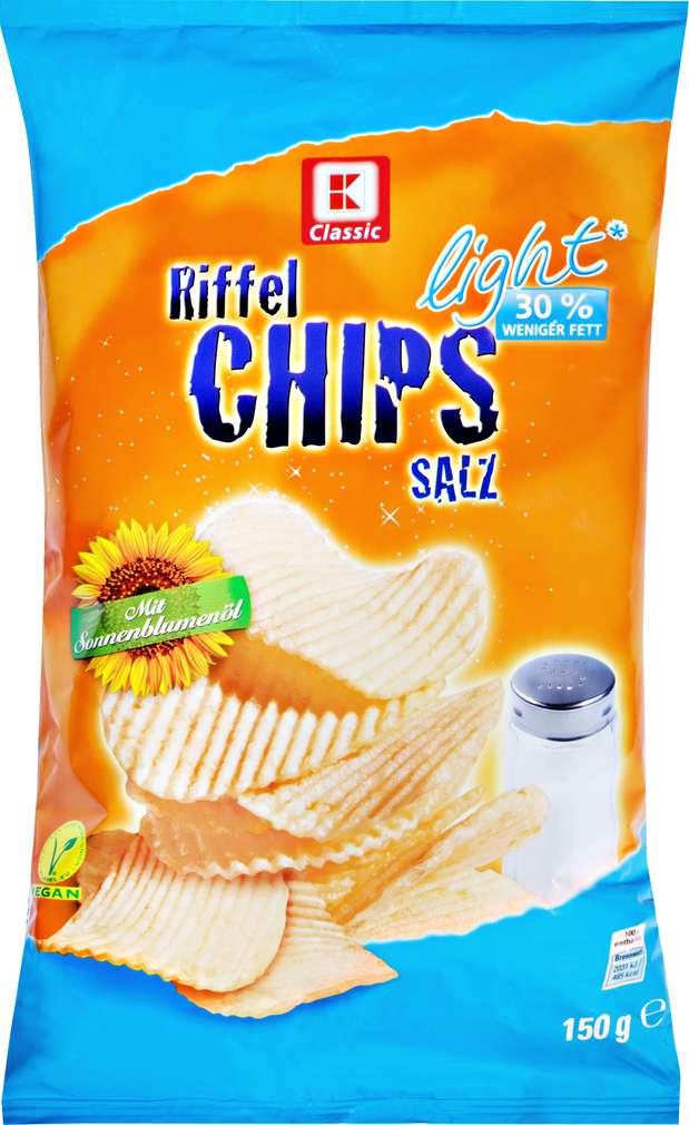 Abbildung des Sortimentsartikels K-Classic Kartoffelchips light Salz 150g