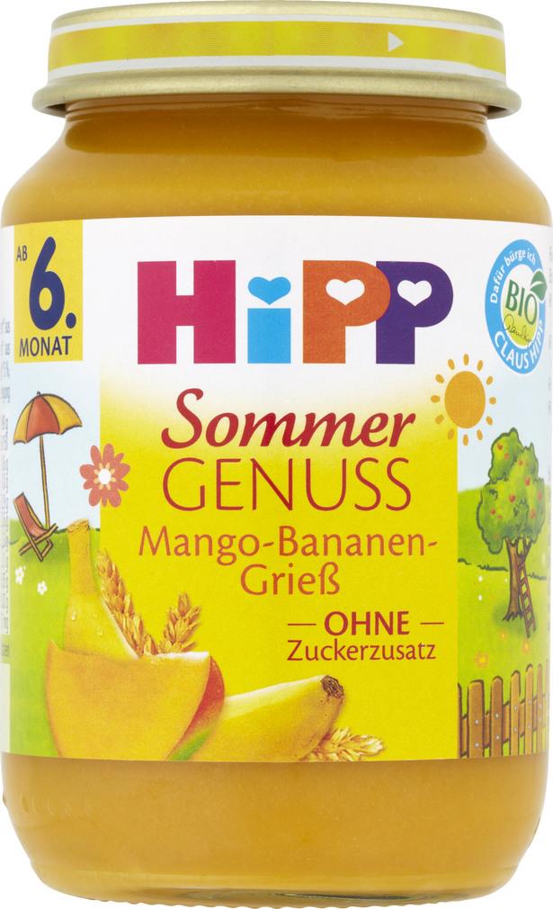 Abbildung des Sortimentsartikels Hipp Frucht&Getreide Mango-Banane Griess ab 6.Monat 190g